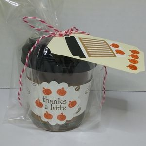 Pumpkin Spice Latte Scented Candle - Hand Decorate
